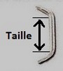 Taille barre surface
