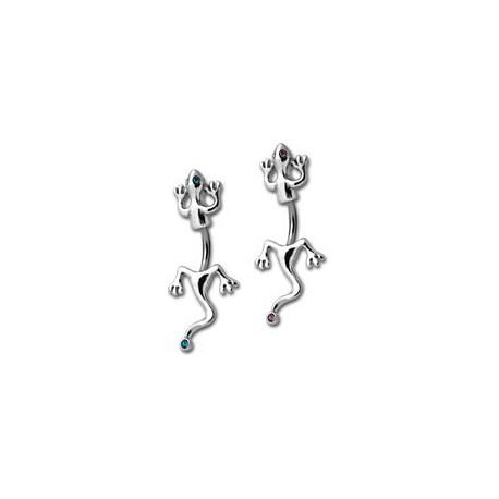 Bijoux De Nombril bijou nombril acier 316l et lézard / salamandre argent 925 sjb 120