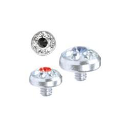 Embout disque avec fleur, Crystal Line avec strass en cristal swarovski, pour micro dermal titane G23 TIADCJ