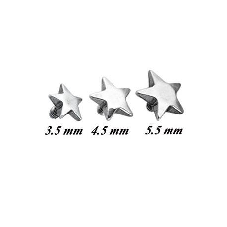 Embout étoile pour micro dermal acier 316L INST 1