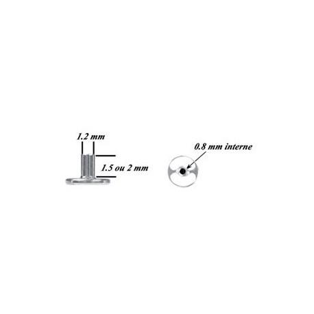 Barre dermal skindiver titane G23 TDW PINS