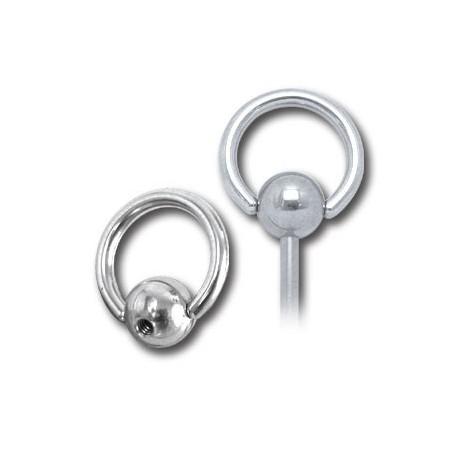 embout anneau avec boule clipper acier 316l visser 1 6 mm slb catalogue bijoux piercing. Black Bedroom Furniture Sets. Home Design Ideas