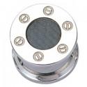 Plug décoratif pour oreille acier 316L et carbone gros diamètre BTN 01