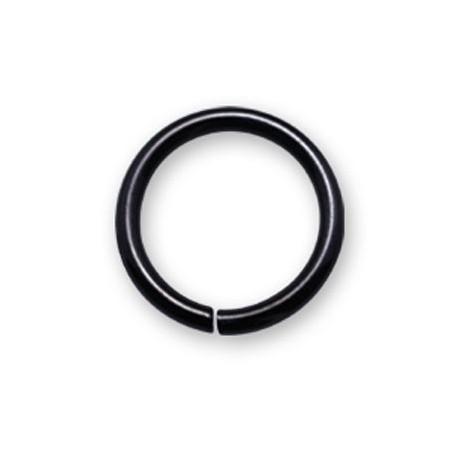 Anneau fermé simple acier noir ouverture facile BKCOBC