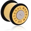 Plug balle magnum 357 oreille acier 316L gros diamètre TN 19
