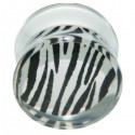Plug avec motif zébré acrylique gros diamètre PLFP 10
