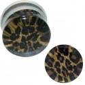 Plug avec motif léopard acrylique gros diamètre PLFP 12
