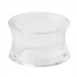 Tunnel incurvé pour oreille acrylique transparent gros diamètre FPLPP 20
