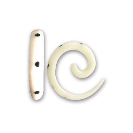 elargisseur forme spirale avec point noir oreille os blanc gros diam tre isp 2 wh catalogue. Black Bedroom Furniture Sets. Home Design Ideas