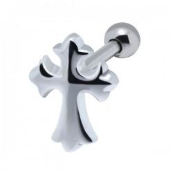 Bijou pour l'oreille acier 316L motif croix tribal TIP 850