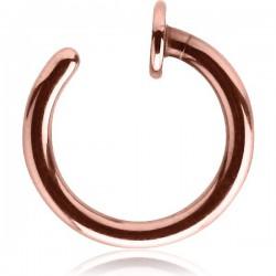 Anneau ouvert pour le nez ou faux anneau de piercing acier or rose ORONR