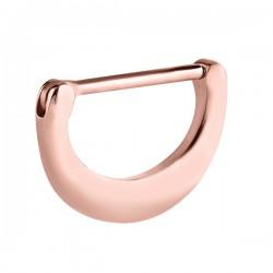 Bijou téton motif demi anneau - barre 1,6 mm acier or rose ORSNC 09