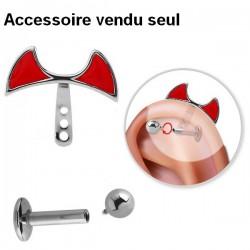 Accessoire pour piercing de cartilage en acier 316L TIPP 001