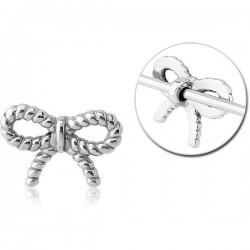 Accessoire noeud cocarde pour bijou pour industriel en acier 316L INDR 19