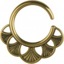 Accessoire décoratif pour tunnel oreille laiton gros diamètre EXBR 05