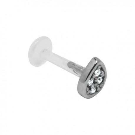 Labret Bioflex ® goutte avec brillants acier à clipper BOLBSS 12