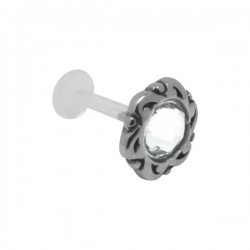 Labret Bioflex ® brillant avec contour fantaisie acier à clipper BOLBSS 14