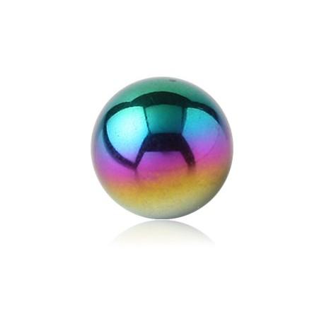 Boule titane coloré anodisé, à visser 1,2 mm ATMB