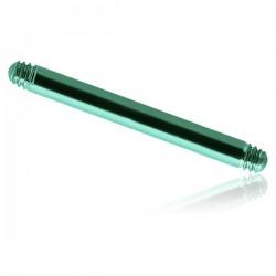 Barre droite titane anodisé G23 à visser 1,6 mm du 14 mm au 16 mm de longueur ATBL-PINS