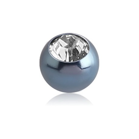 Boule titane coloré anodisé avec brillant blanc, à visser 1,2 mm ATMJB