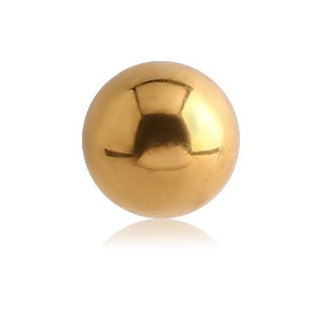 Boule acier doré or fin, à visser 1,6 mm GPB