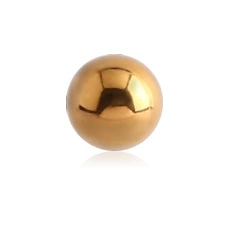 Boule acier doré or fin, à visser 1,2 mm GPMB