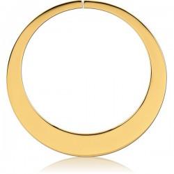 Accessoire forme ronde pour tunnel oreille acier doré or fin gros diamètre GPTNA 05