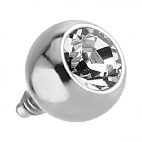 Boule titane G23 avec brillant blanc, pas de vis interne 1,6 mm TINJB