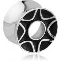 Tunnel motif décoratif oreille acier 316L gros diamètre TN 27