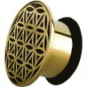 Plug décoratif oreille laiton gros diamètre TNBR 07