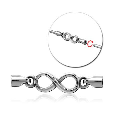 Accessoire motif infini pour bijou pour industriel à visser en acier 316L IND 13