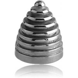 Pic ou cone strié acier 316L, à visser 1,6 mm HC