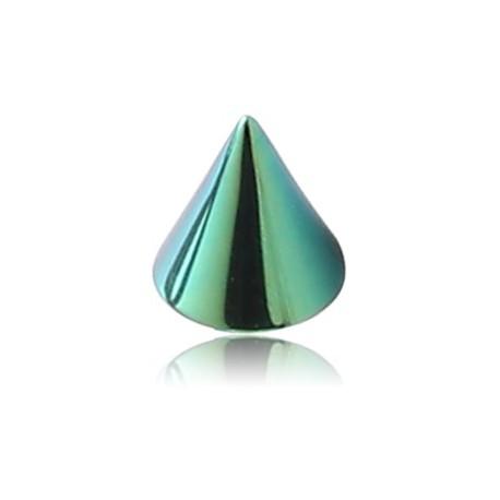 Pic ou cone titane coloré anodisé, à visser 1,2 mm ATMC