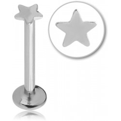 Bijou labret 1,2 mm acier 316L avec étoile à visser interne INMLBST