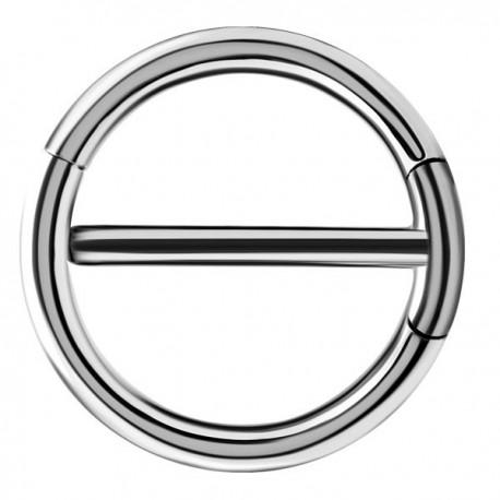 Bijou téton avec contour anneau - barre 1,6 mm acier 316L SNC 15