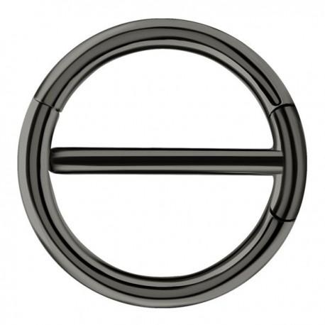 Bijou téton avec contour anneau - barre 1,6 mm acier noir BKSNC 15
