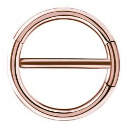 Bijou téton avec contour anneau - barre 1,6 mm acier or rose ORSNC 15