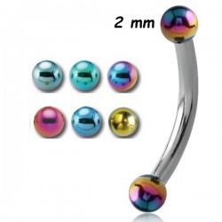 Barre pliée 1,2 mm acier coloré anodisé boules INMBNA