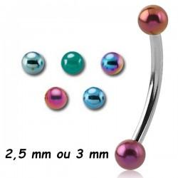 Barre pliée 1,2 mm acier coloré anodisé boules MBNA