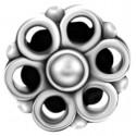Embout motif fleur acier 316L pour barre 1,2 mm avec pas de vis interne 0,8 mm IA18