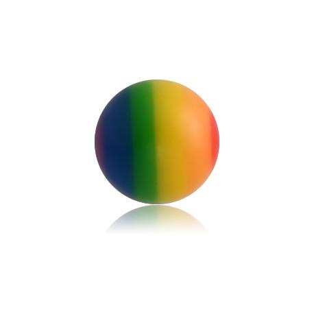 Boule rainbow acrylique couleur arc en ciel, à visser 1,2 mm MURNB