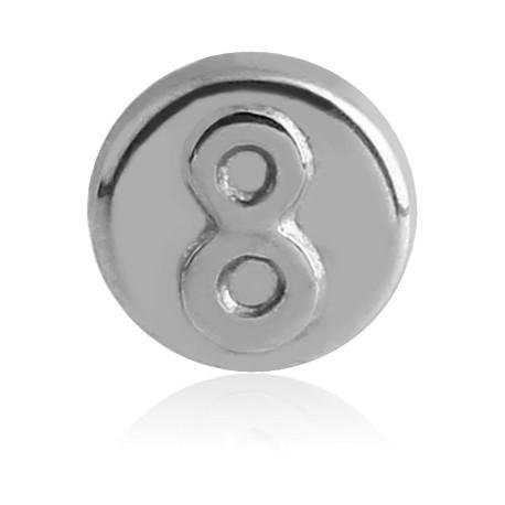 Visse Plug Acrylique Noir Huit boule de billard Piercing Boucle