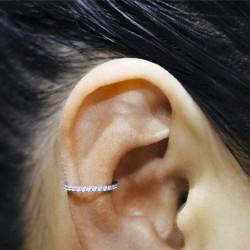 Anneau fermé avec strass de Swarovski ® sur contour acier chirurgical 1,2 mm BHCR