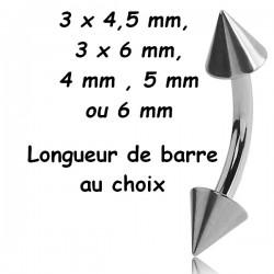 Bijou nombril acier 316L pics BNC