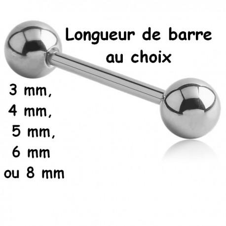 Barre 1,6 mm acier 316L boules BL