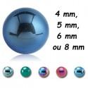 Boule acier 316L anodisé, à visser 1,6 mm AB