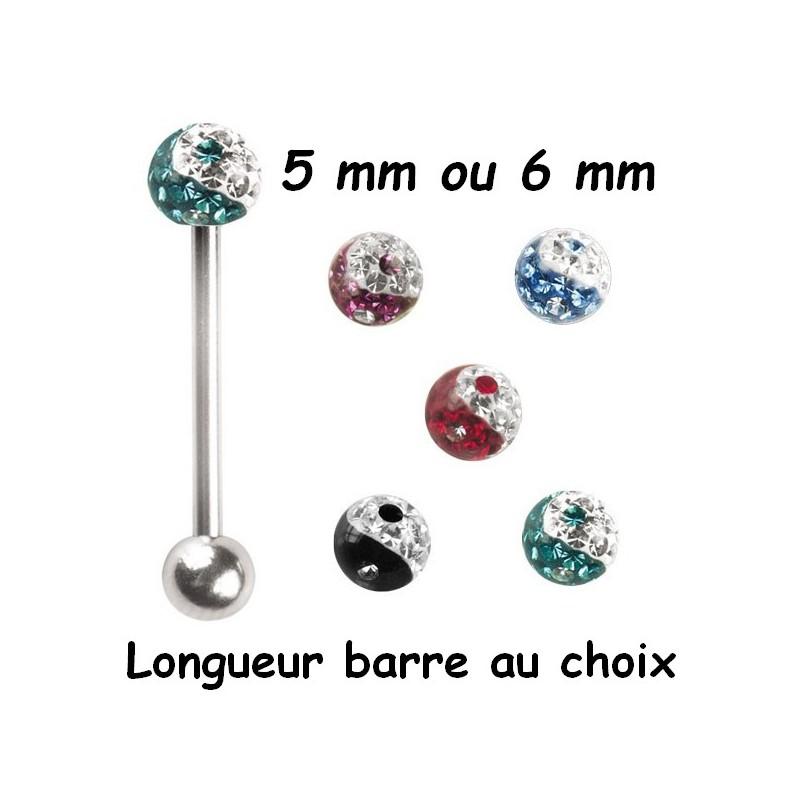 Piercing langue Crystal 7 mm