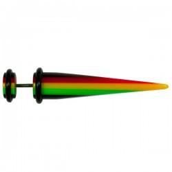 Faux écarteur rasta pour l'oreille acier 316L FUPL 12
