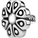 Embout motif fleur acier 316L pour barre 1,2 mm avec pas de vis interne 0,8 mm IA21