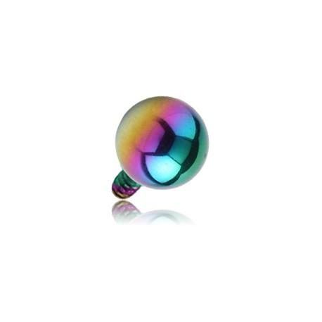 Boule acier anodisé coloré, à visser interne 1,6 mm INAB